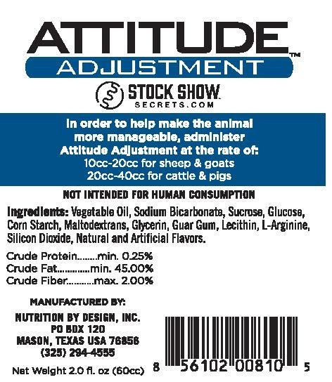 Attitude Adjustment 60cc by Stock Show Secrets